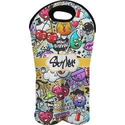 Graffiti Wine Tote Bag (2 Bottles) (Personalized)