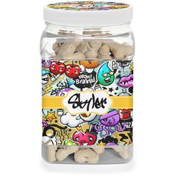 Graffiti Pet Treat Jar (Personalized)