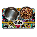 Graffiti Dog Food Mat (Personalized)
