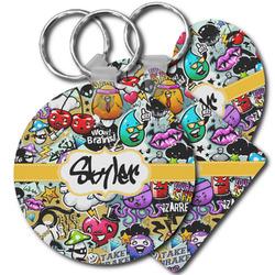 Graffiti Plastic Keychains (Personalized)