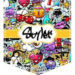 Graffiti Iron On Faux Pocket (Personalized)