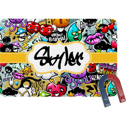 Graffiti Rectangular Fridge Magnet (Personalized)