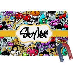 Graffiti Rectangular Fridge Magnet (Personalized)