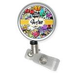 Graffiti Retractable Badge Reel (Personalized)