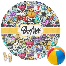 Graffiti Round Beach Towel (Personalized)