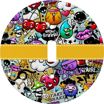 Graffiti Round Light Switch Cover (Personalized)
