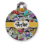 Graffiti Round Pet Tag (Personalized)