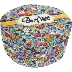 Graffiti Round Pouf Ottoman (Personalized)