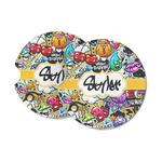 Graffiti Sandstone Car Coasters (Personalized)