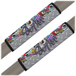 Graffiti Seat Belt Covers (Set of 2) (Personalized)