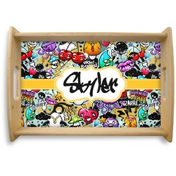 Graffiti Natural Wooden Tray (Personalized)