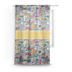 "Graffiti Sheer Curtain - 50""x84"" (Personalized)"