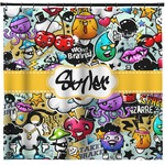 Graffiti Shower Curtain (Personalized)