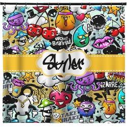 Graffiti Shower Curtain (Personalized)
