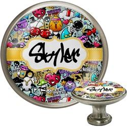 Graffiti Cabinet Knob (Silver) (Personalized)
