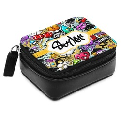Graffiti Small Leatherette Travel Pill Case (Personalized)