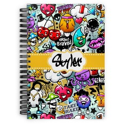 Graffiti Spiral Bound Notebook (Personalized)