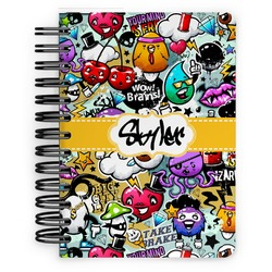 Graffiti Spiral Bound Notebook - 5x7 (Personalized)