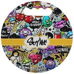 Graffiti Stadium Cushion (Round) (Personalized)