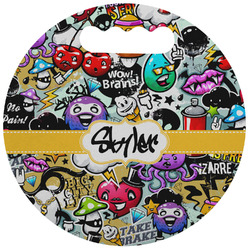 Graffiti Stadium Cushion (Round) (Personalized)