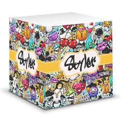 Graffiti Sticky Note Cube (Personalized)