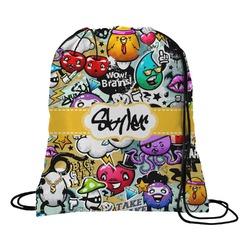 Graffiti Drawstring Backpack - Small (Personalized)