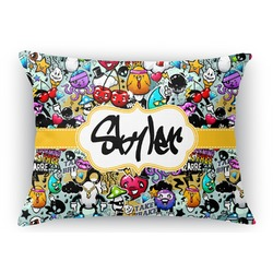 Graffiti Rectangular Throw Pillow Case (Personalized)