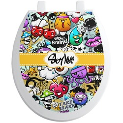 Graffiti Toilet Seat Decal (Personalized)