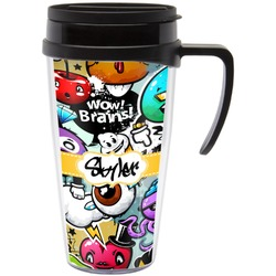 Graffiti Travel Mug with Handle (Personalized)