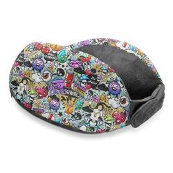 Graffiti Travel Neck Pillow (Personalized)