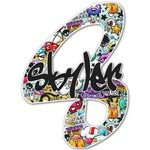 Graffiti Name & Initial Decal - Custom Sized (Personalized)