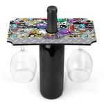 Graffiti Wine Bottle & Glass Holder (Personalized)