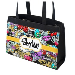 Graffiti Zippered Everyday Tote w/ Name or Text