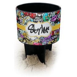 Graffiti Black Beach Spiker Drink Holder (Personalized)