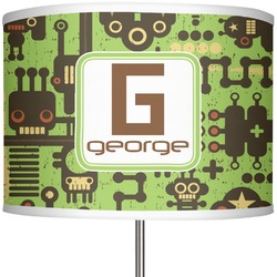 "Industrial Robot 1 13"" Drum Lamp Shade Polyester (Personalized)"