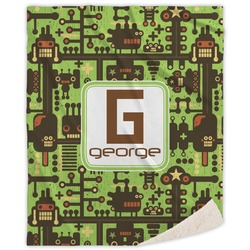 Industrial Robot 1 Sherpa Throw Blanket (Personalized)