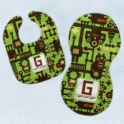 Industrial Robot 1 Baby Bib & Burp Set w/ Name and Initial