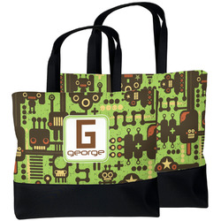 Industrial Robot 1 Beach Tote Bag (Personalized)