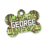 Industrial Robot 1 Bone Shaped Dog Tag (Personalized)