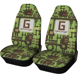 Industrial Robot 1 Car Seat Covers (Set of Two) (Personalized)