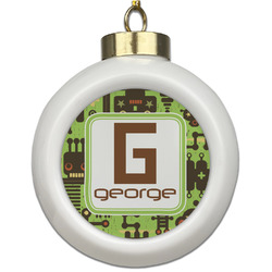 Industrial Robot 1 Ceramic Ball Ornament (Personalized)