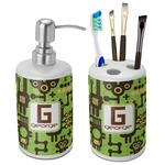 Industrial Robot 1 Bathroom Accessories Set (Ceramic) (Personalized)