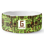 Industrial Robot 1 Ceramic Dog Bowl (Personalized)