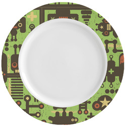 Industrial Robot 1 Ceramic Dinner Plates (Set of 4) (Personalized)