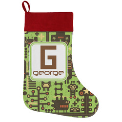 Industrial Robot 1 Holiday Stocking w/ Name and Initial