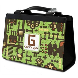 Industrial Robot 1 Classic Tote Purse w/ Leather Trim (Personalized)