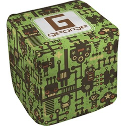 Industrial Robot 1 Cube Pouf Ottoman (Personalized)