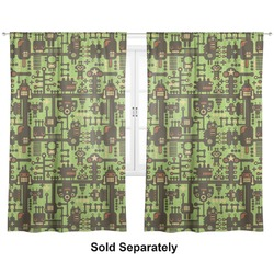 "Industrial Robot 1 Curtains - 56""x80"" Panels - Lined (2 Panels Per Set) (Personalized)"