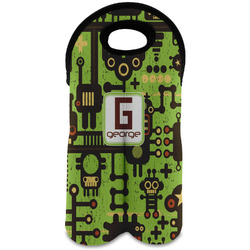 Industrial Robot 1 Wine Tote Bag (2 Bottles) (Personalized)