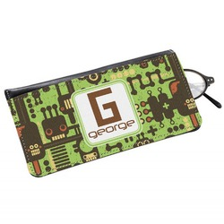 Industrial Robot 1 Genuine Leather Eyeglass Case (Personalized)